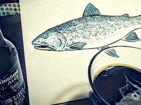 Drink and ink Lake Trout